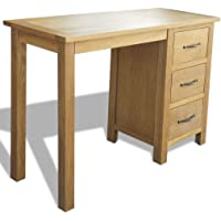 Festnight Writing Desk with 3 Drawers Home Office Furniture Oak 106 x 40 x 75 cm