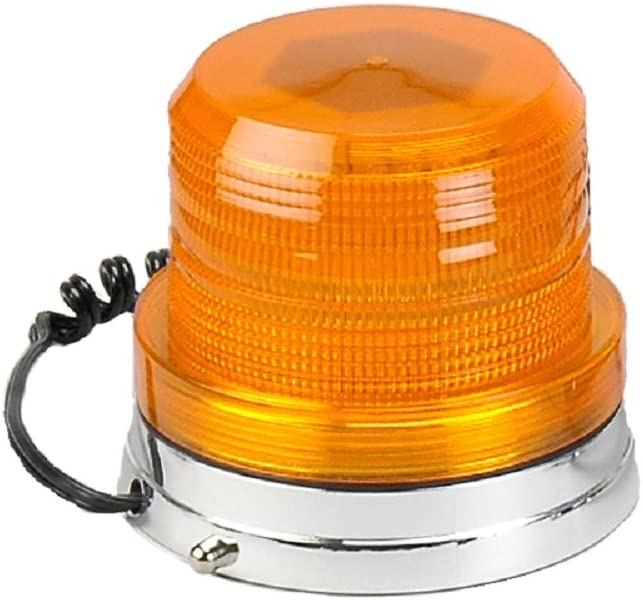 3000-A Amber Lens Clear LEDs Magnet Mount Wolo Hawkeye LED Rotating And Flashing Emergency Warning Light