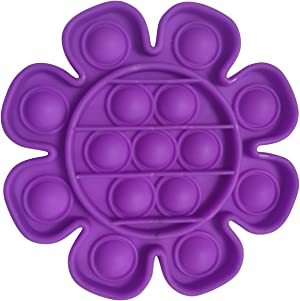 Push Pop Bubble Sensory Toy Stress Toys Reliever Autism Toy, Flower Type Toy Anti-Anxiety Toys, Mochi Squishys Party Favors for Kids 8-12 (Purple)