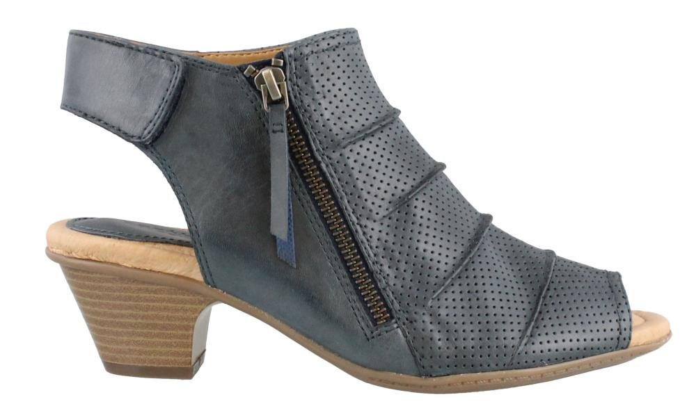 Earth Women's Hydra Mid Heel Sandal,Admiral Blue Soft Leather,US 7 M by Earth