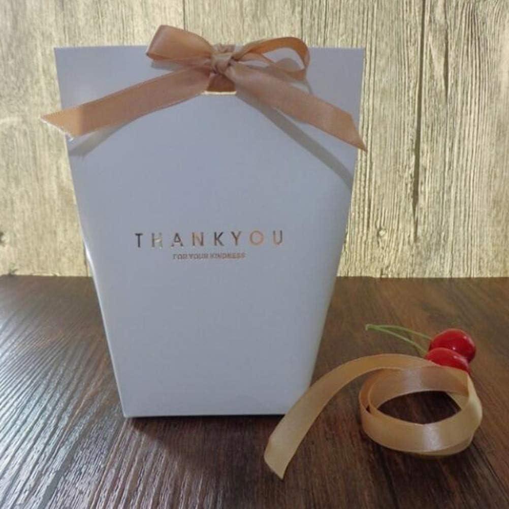 Gastgeschenke S/ü/ßigkeiten-Box faltbare Pralinen Verpackung Band f/ür Hochzeit Schmuck Party Macabolo 6 Packungen Kraftpapiert/üten Geschenkt/üten
