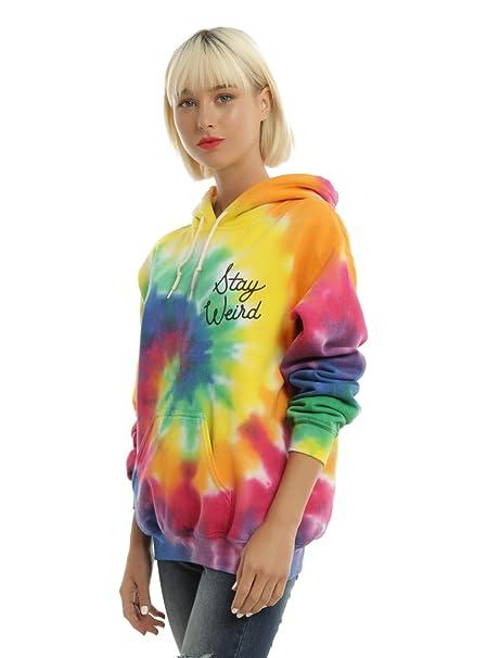 68e53fbc Tie Dye Stay Weird Girls Hoodie: Amazon.ca: Clothing & Accessories