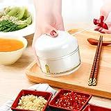 HZM Manual Food Chopper Processor Vegetable Slicer Dicer Mincer to Chop Fruits UTS Herbs Onions Garlics Blender Mincer Blender