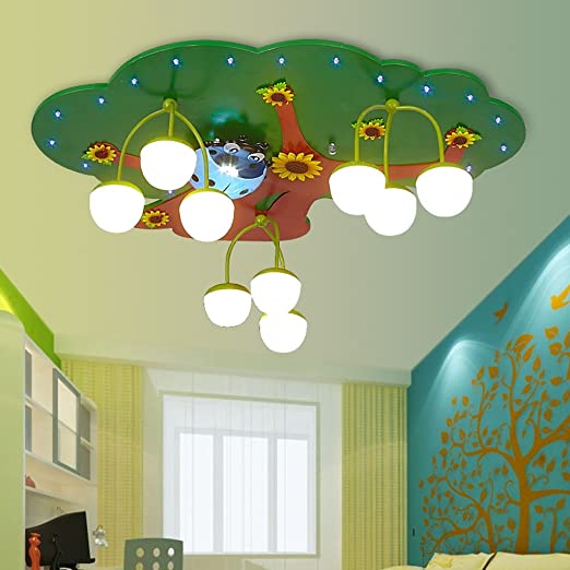 Good Thing Creative Wisdom Tree Kids Room Led Ceiling Lamp