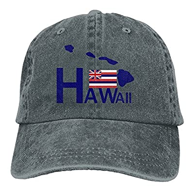 SARA NELL Unisex Adult Hawaii Vintage Adjustable Baseball Cap Denim Dad Hat