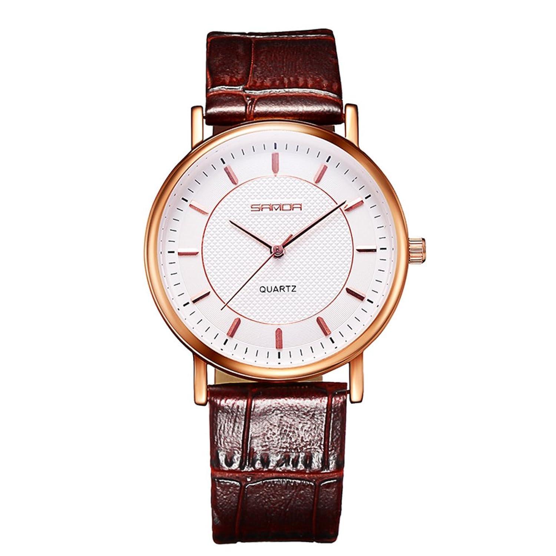 スリムメンズ腕時計/防水加工ビジネスウォッチ/シンプルクォーツwatch-a B06XJ6C42C