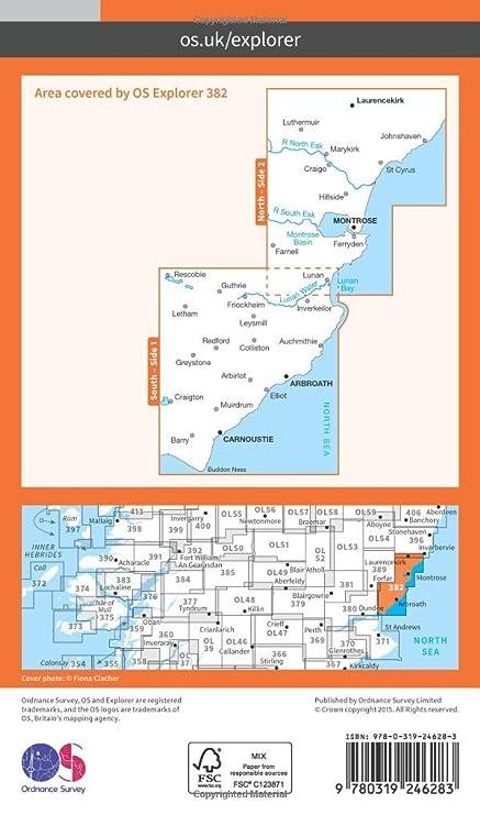 Os Explorer Map 382 Arbroath Montrose And Carnoustie Os Explorer