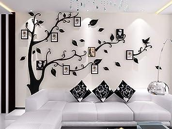 Amazoncom Unitendo 3d Acrylic Black Tree Wall Stickers Photo