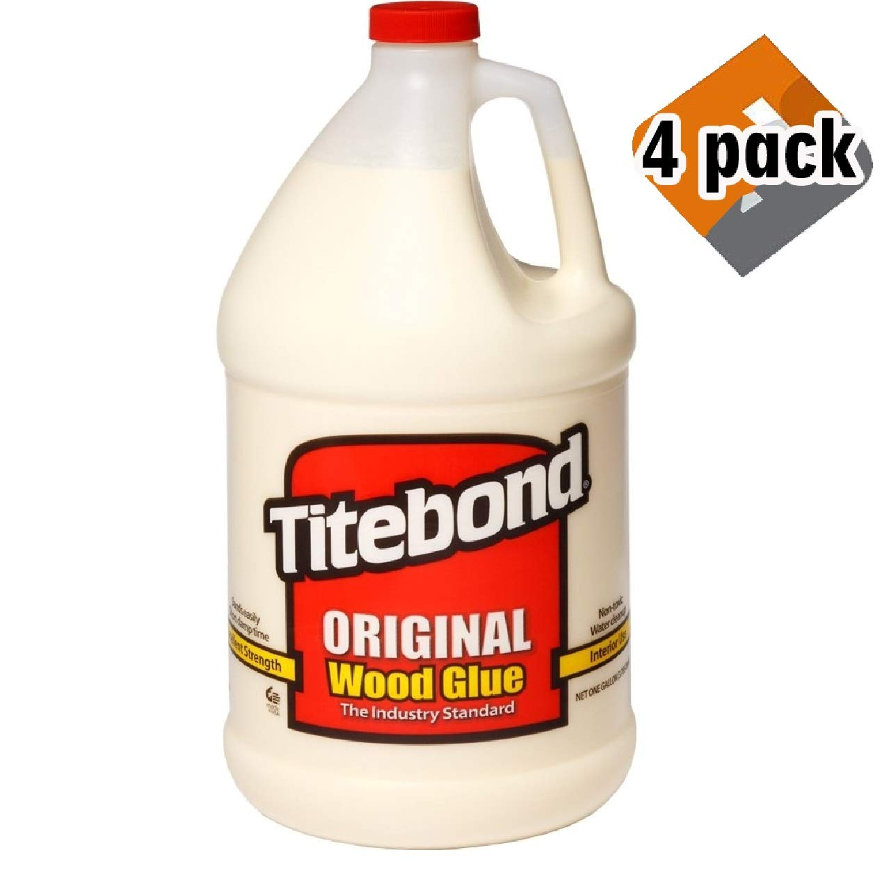 Titebond 5066F Original Wood Glue - Gallon, 4 Pack