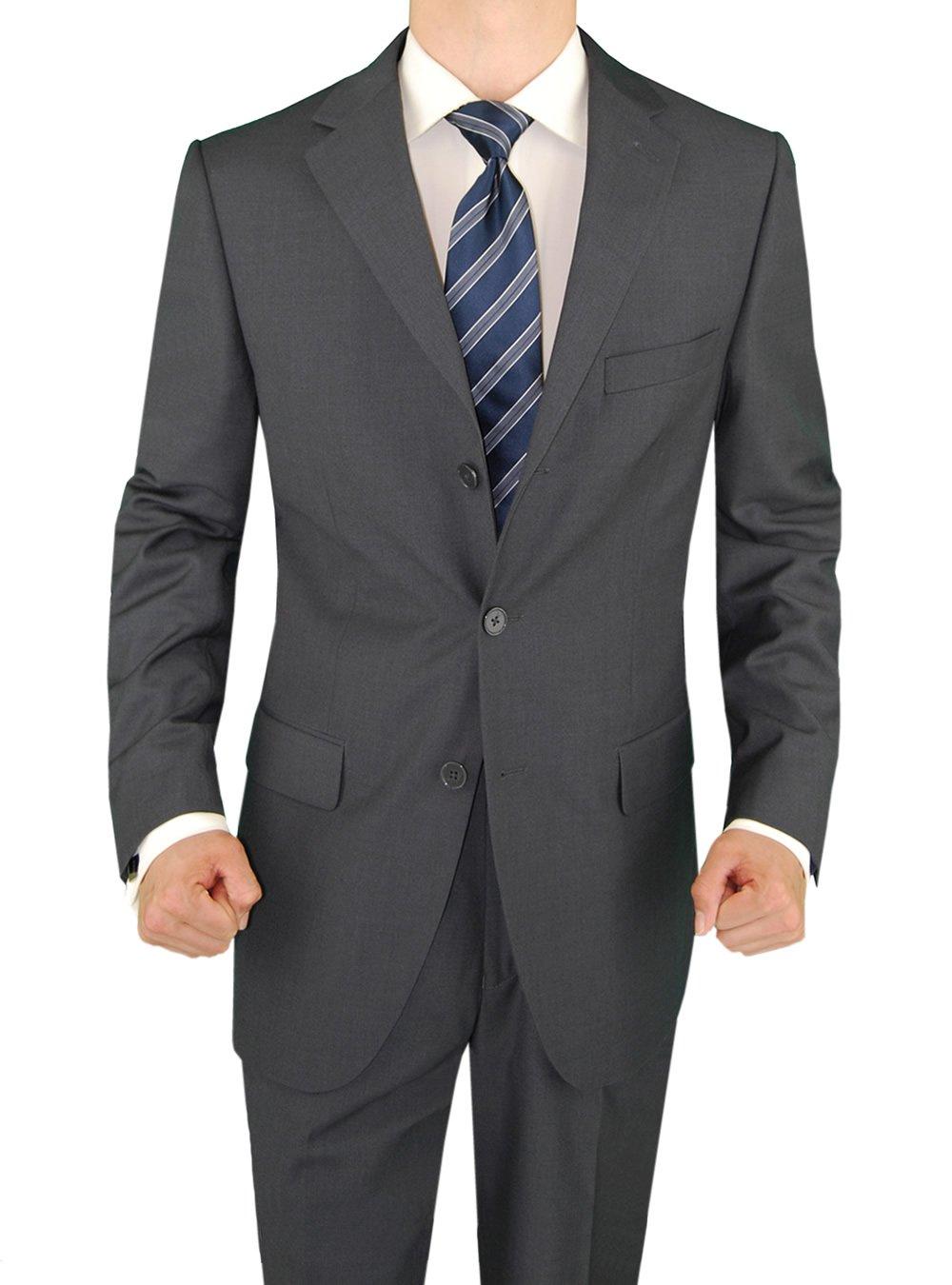 Salvatore Exte Men's Three Button 2 Piece Suit Pleated Pants (40 Regular)
