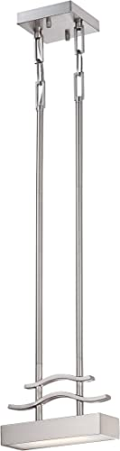 Nuvo Lighting 62 134 Wave LED One Mini Pendant 4.8 Watt 285 Lumens Soft White 2700K KolourOne Technology Brushed Nickel Fixture