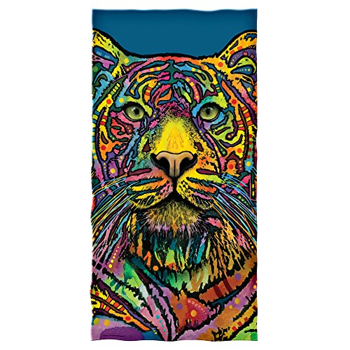 Dean Russo Tiger Cotton Beach Towel by Dawhud Direct