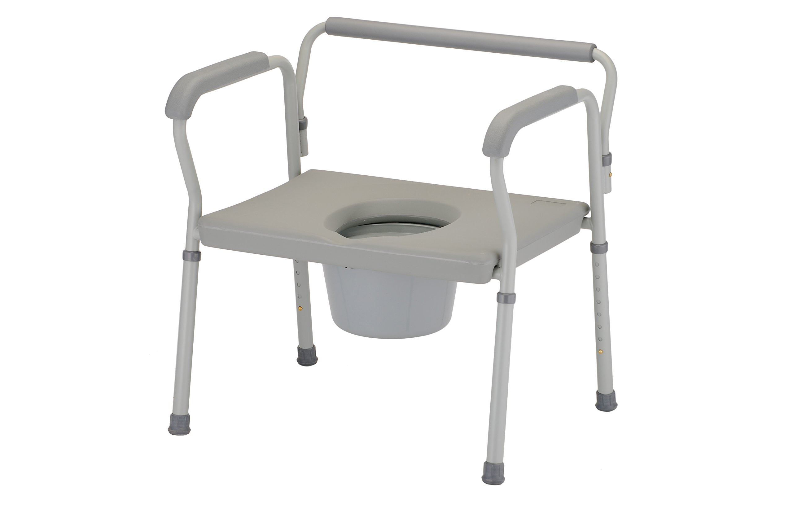 NOVA Medical Products Heavy Duty Commode with Extra Wide Seat, Gray, 19.5 Pound