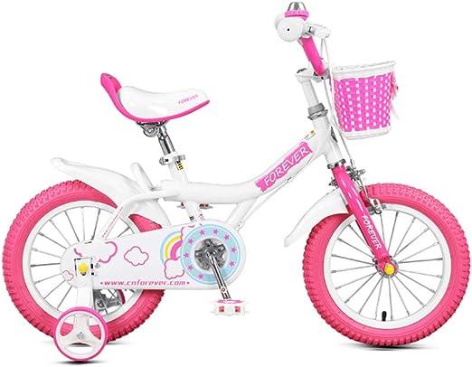 DT Niño Bicicleta niña Princesa 3-6-8 años de Edad, Cochecito de ...