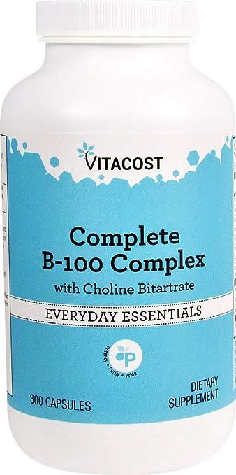 Amazon.com: vitacost B-100 Complex – -300 Cápsulas: Health ...