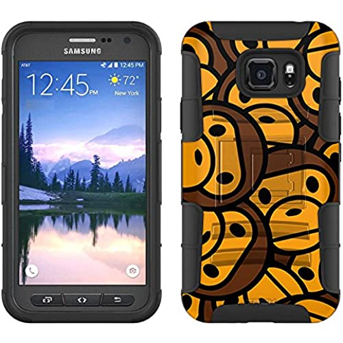 Samsung Galaxy S7 Active Armor Hybrid Case Monkey Pattern 2 Piece Case with Holster for Samsung Galaxy S7 Active Sales