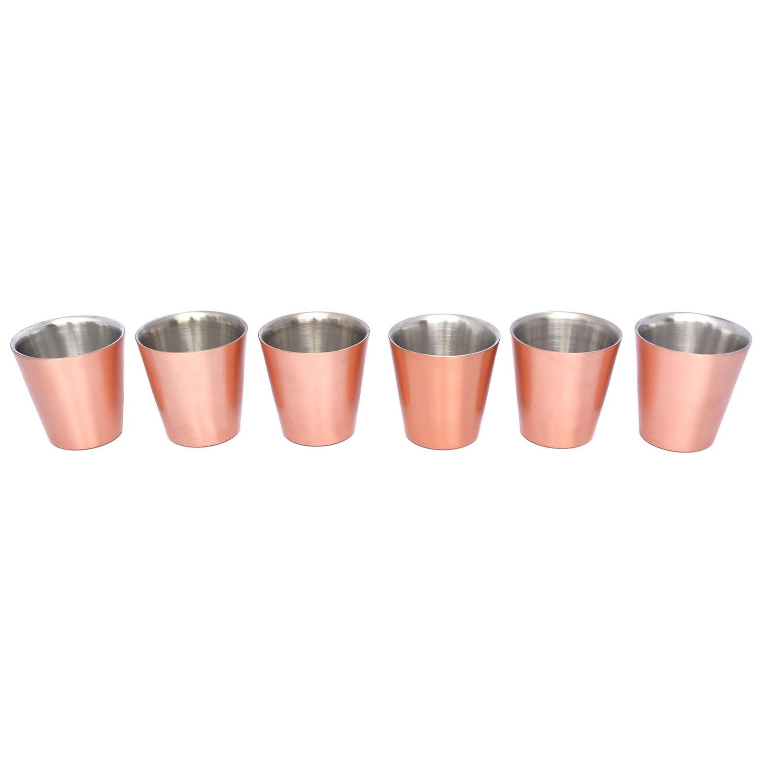 Member's Mark 14 oz. Double-Wall Shorty Mule Mug, Set of 6, Copper
