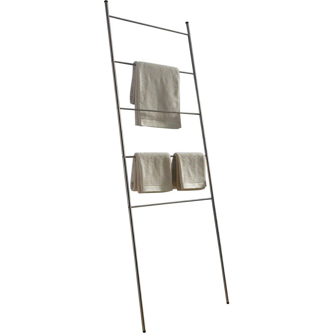 PSBA Standing Towel Rack Ladder for Bathroom Spa Towel Hanger, Steel Matte