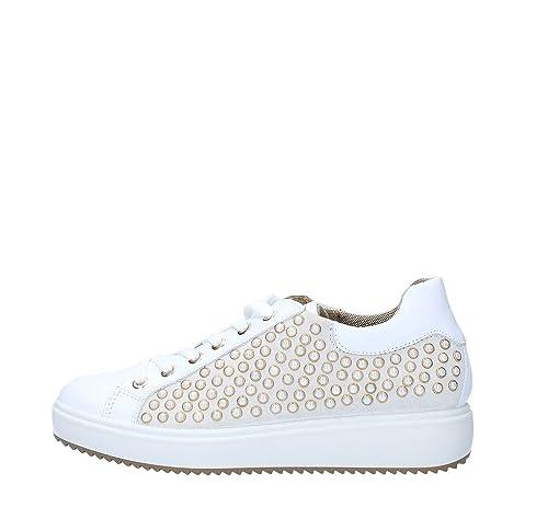 Femme à Vamos lacets Sneakers 37 White Chaussures Igiamp;Co 1148500 EUBqxa