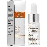 Facial Care Serum, Hyaluronic Acid Six Peptides Essence 24K Gold For Striae Anti Wrinkle Cream Anti Aging Moisturizing…