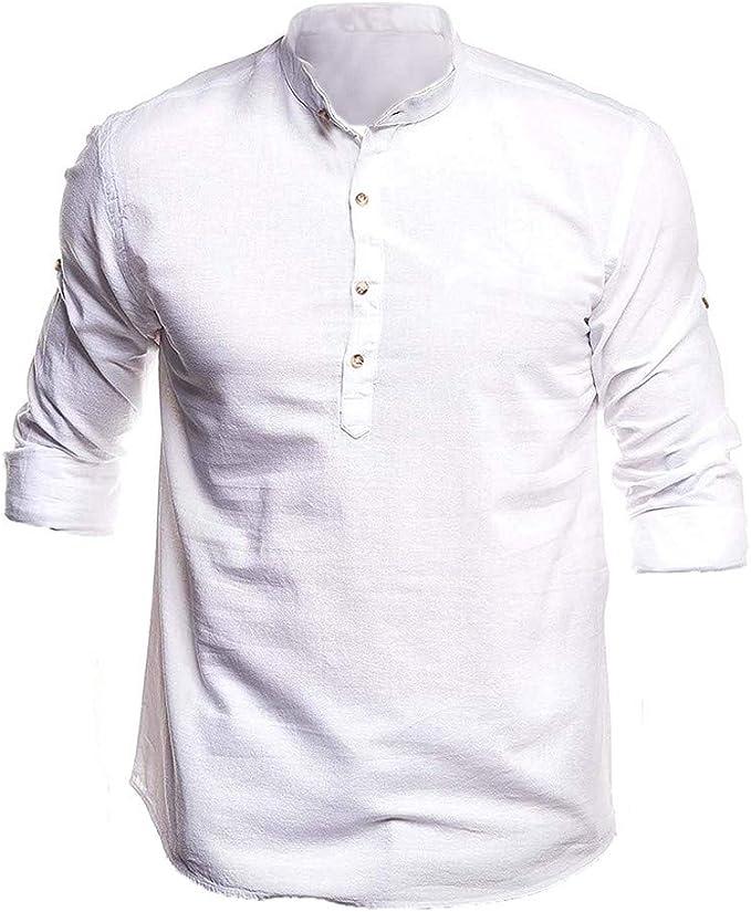 Magliette Uomo e Donna,YanHoo Camicia Uomo Elegante Tinta