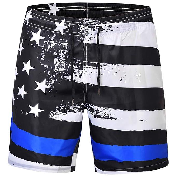 0c9aa16020911 Xiaohudui Men Casual Black 3D Print Summer Boardshorts Mesh Lining Trousers  Quick Dry Beach Short Side