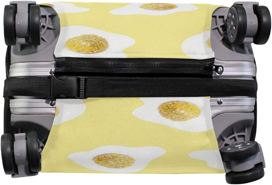 Travel Luggage Cover Egg Art Suitcase Protector Fits 18-20 Inch Washable Baggage Covers