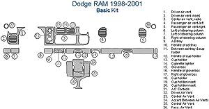Dodge RAM Basic Dash Trim Kit - Japanese Cherry Wood