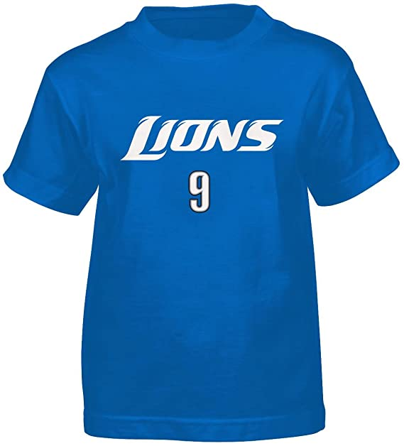 finest selection 2ddff 13029 NFL Detroit Lions Matt Stafford Youth 8-20 Short Sleeve T-Shirt Primary Gear