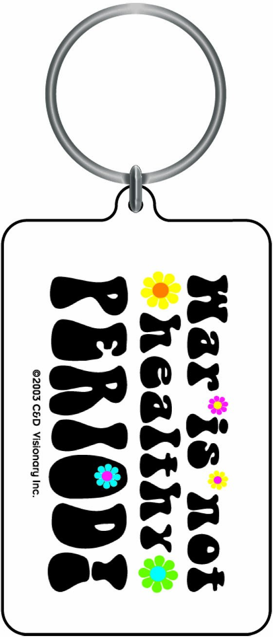 Licenses Products War is Not Healthy Period Lucite Key Chain C/&D Visionary Inc K-0823