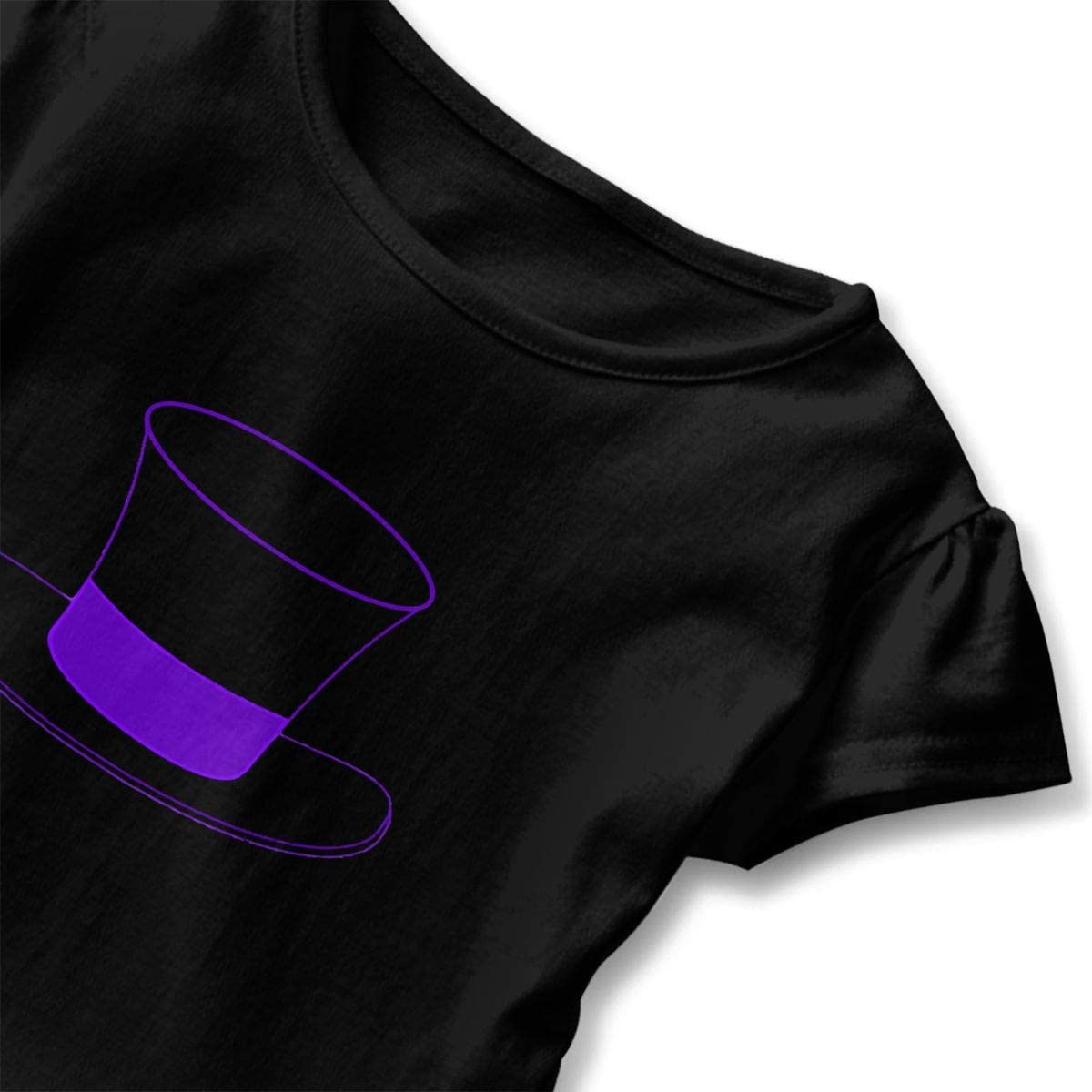 Baby Girls Top Hat 100/% Cotton T Shirts Short Sleeve Ruffle Tee Basic Tops