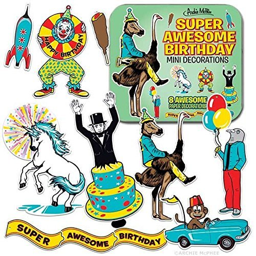 Archie McPhee Super Awesome Birthday Mini (Awesome Decorations)