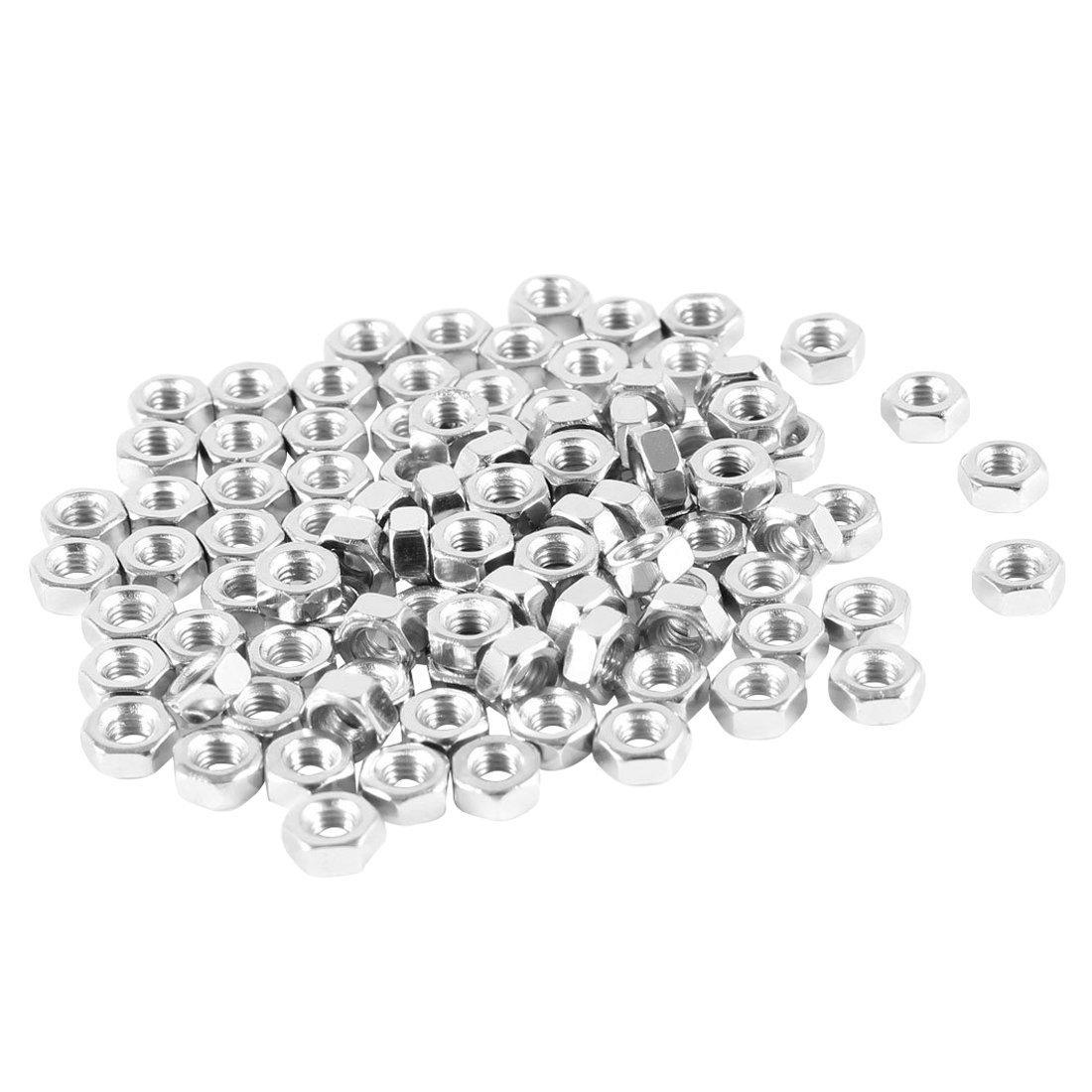 100Pcs M3 Ecrou femelle 3mm Ecrou hexagonal Ecrou argente TOOGOO Ecrou hexagonal R