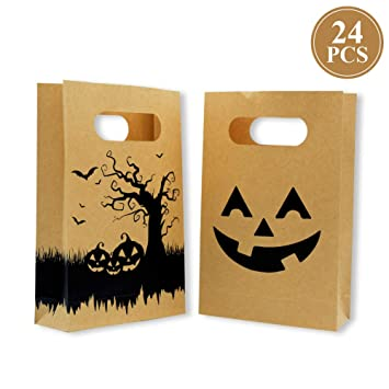 Amazon.com: Bolsas de caramelos de papel kraft para ...