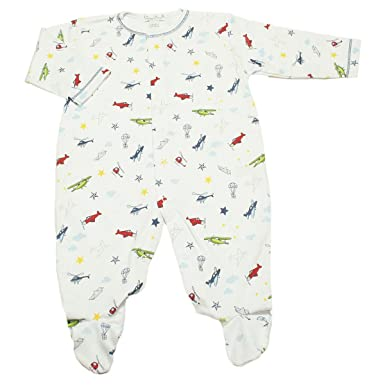 Amazon.com: Kissy Kissy Baby-Boys Aviators Print Footie: Infant ...