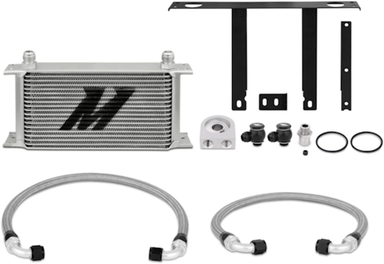 Mishimoto MMOC-GEN4-10 Oil Cooler Kit Compatible With Hyundai Genesis Coupe 2.0T 2010-2012 Silver
