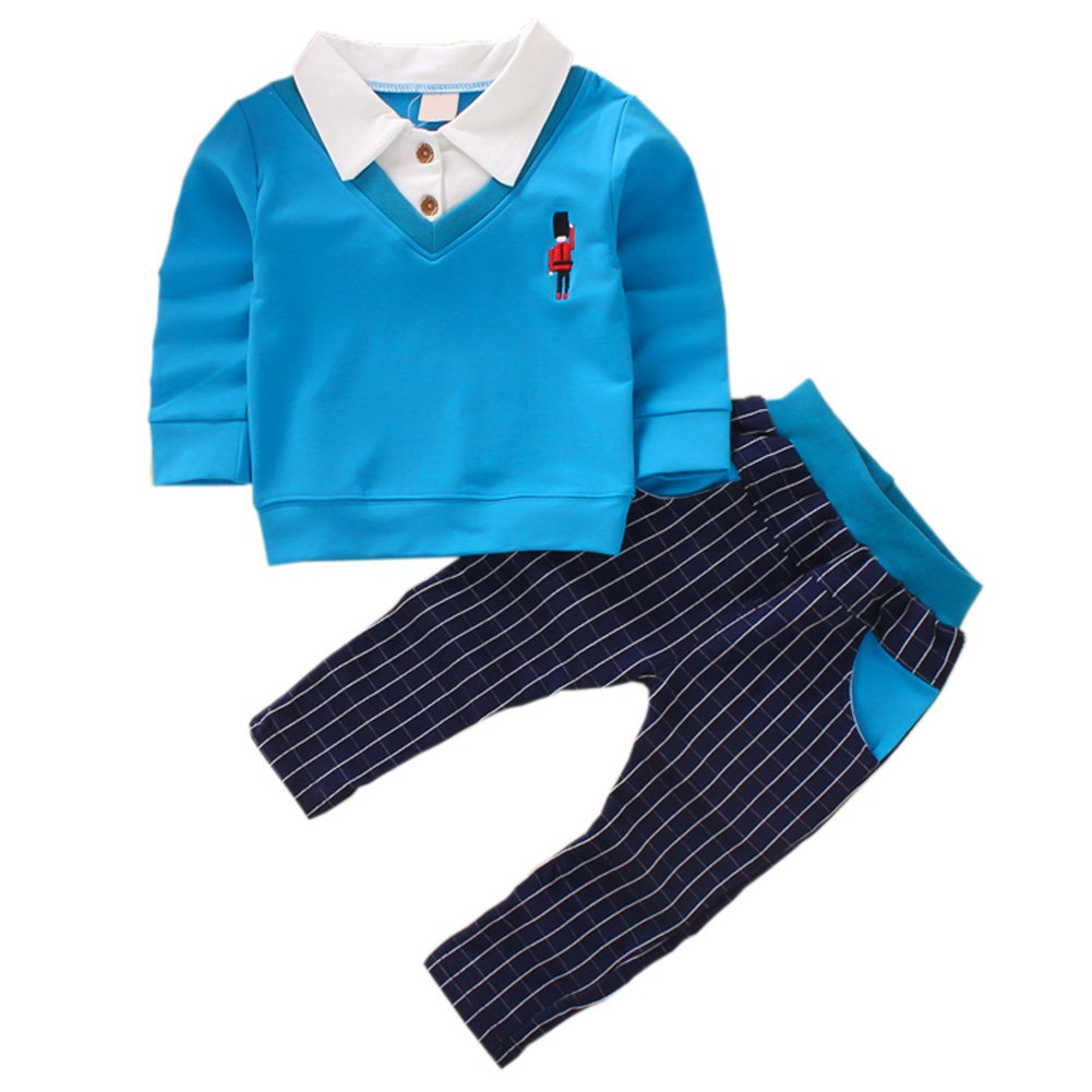 DIIMUU Baby Kids Boys Formal Party Wedding Outfits Sets Clothes Suits
