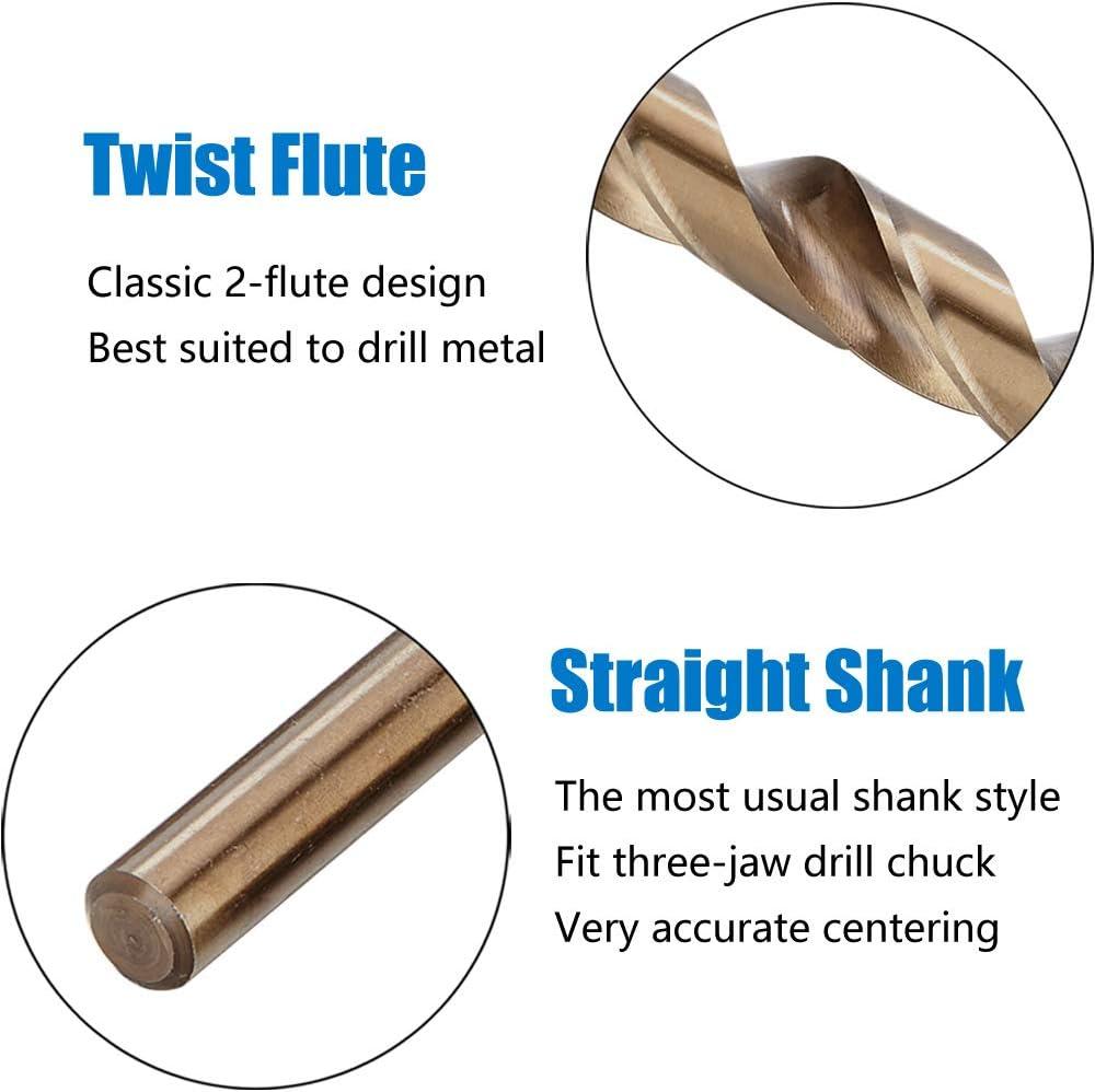 2pc 10mm Twist Jobbers Drill bits Metric High speed steel cutting hs hss 10 mm