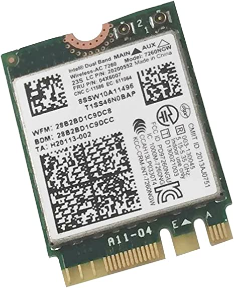New Lenovo 04X6007 Dual Wireless-AC 7260 7260NGW abgn+ac Bluetooth PCIe NGFF
