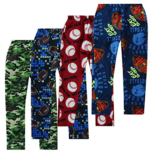 Boyz Club Pajama Bottoms For Boys - Assorted 4 Pack - Size 8/10 Boys Pajama Bottoms