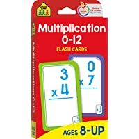 School Zone - Multiplication 0-12 Flash Cards - Ages 8+, 3rd Grade, 4th Grade, Elementary Math, Multiplication Facts…