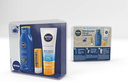 NIVEA SUN Pack Mini Solares formato de viaje: FP 50 Sun Protect ...