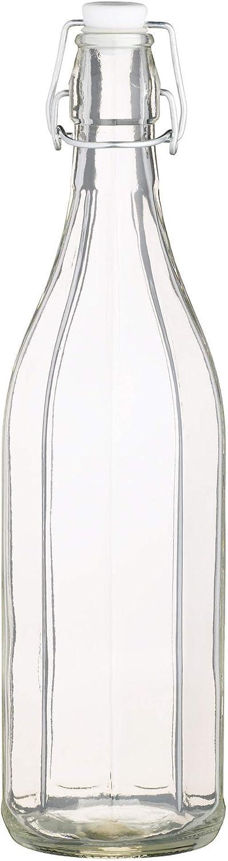 Kitchen Craft KCBOTRD1 - Botella de cristal para aceite con cierre de brida (1L)