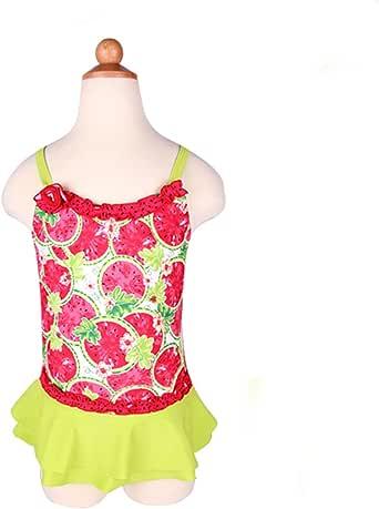 Amazon.com: Girls Swimwear Junior Skirted Bathing Suit One