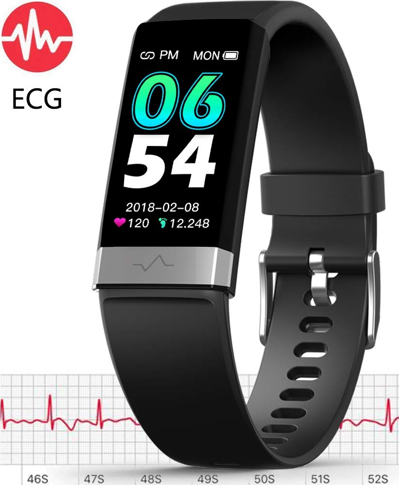 MorePro ECG Monitor Watch,Waterproof Fitness Tracker with Heart Rate Blood Pressure Monitor, Activity Tracker with Enhanced Sleep Monitor for Android iOS, Pedometer Calorie Step Counter for Women Men by MorePro