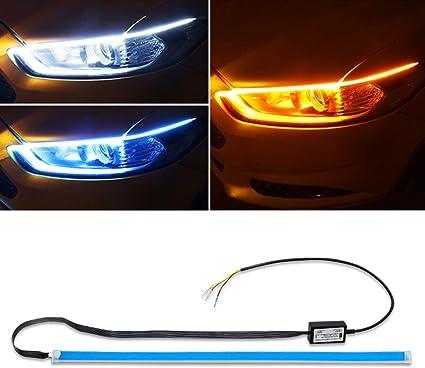 de voiture DRL lumi/ères LED /étanche Turn Signal lamps lumi/ère Accessoires 17/cm Blanc Lot de 2