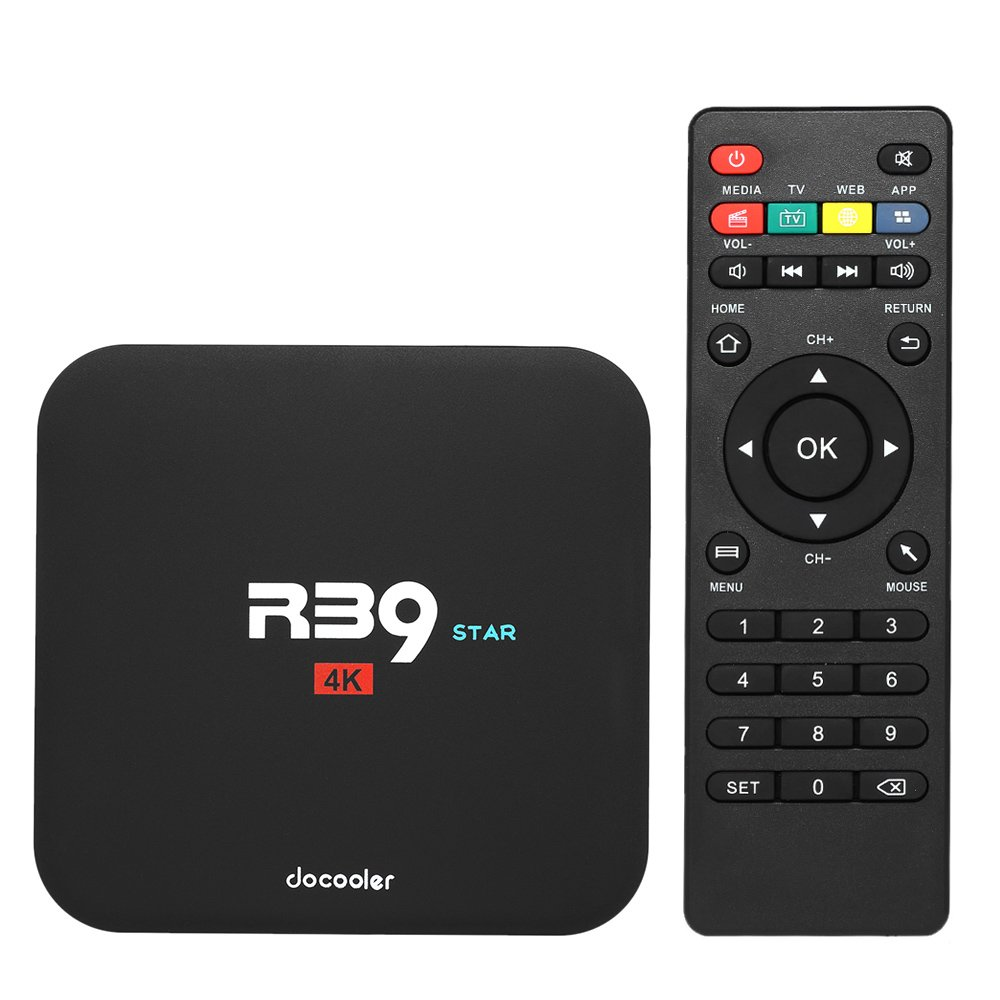 Docoker R39 Star Smart Android TV Box Android 7.1 RK3229 Quad Core UHD 4K VP9 H.265 2 GB / 16 GB DLNA WiFi LAN HD Media Player Docooler