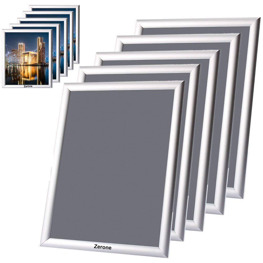 Snap cornice in alluminio confezione da 5/A3/Snap cornici poster titolari clip display bacheca da parete segni argento