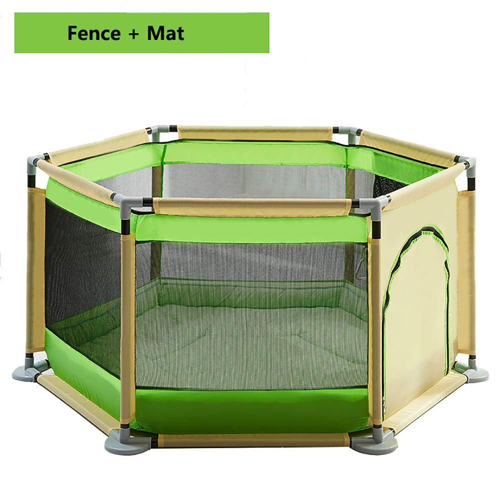 おすすめ ベビーサークルプレイヤード アクティビティパネル&フロアPlaymat 6面フェンス (色、複数の色、140x65cmのプラスチック製の赤ちゃんのプレイパネル : (色 : Green+Beige) B07KNZVHX8 Green+Beige B07KNZVHX8, ミョウコウコウゲンマチ:973b895d --- a0267596.xsph.ru