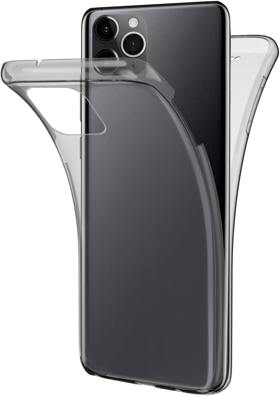 Herbests Kompatibel mit iPhone 11 Pro HandyH/ülle Vollschutz 360 Grad Komplett Schutz Rundumschutz-Schale Full Body Case Beidseitiger Cover Vorder und R/ückseiten Schutzh/ülle Tasche,Gold